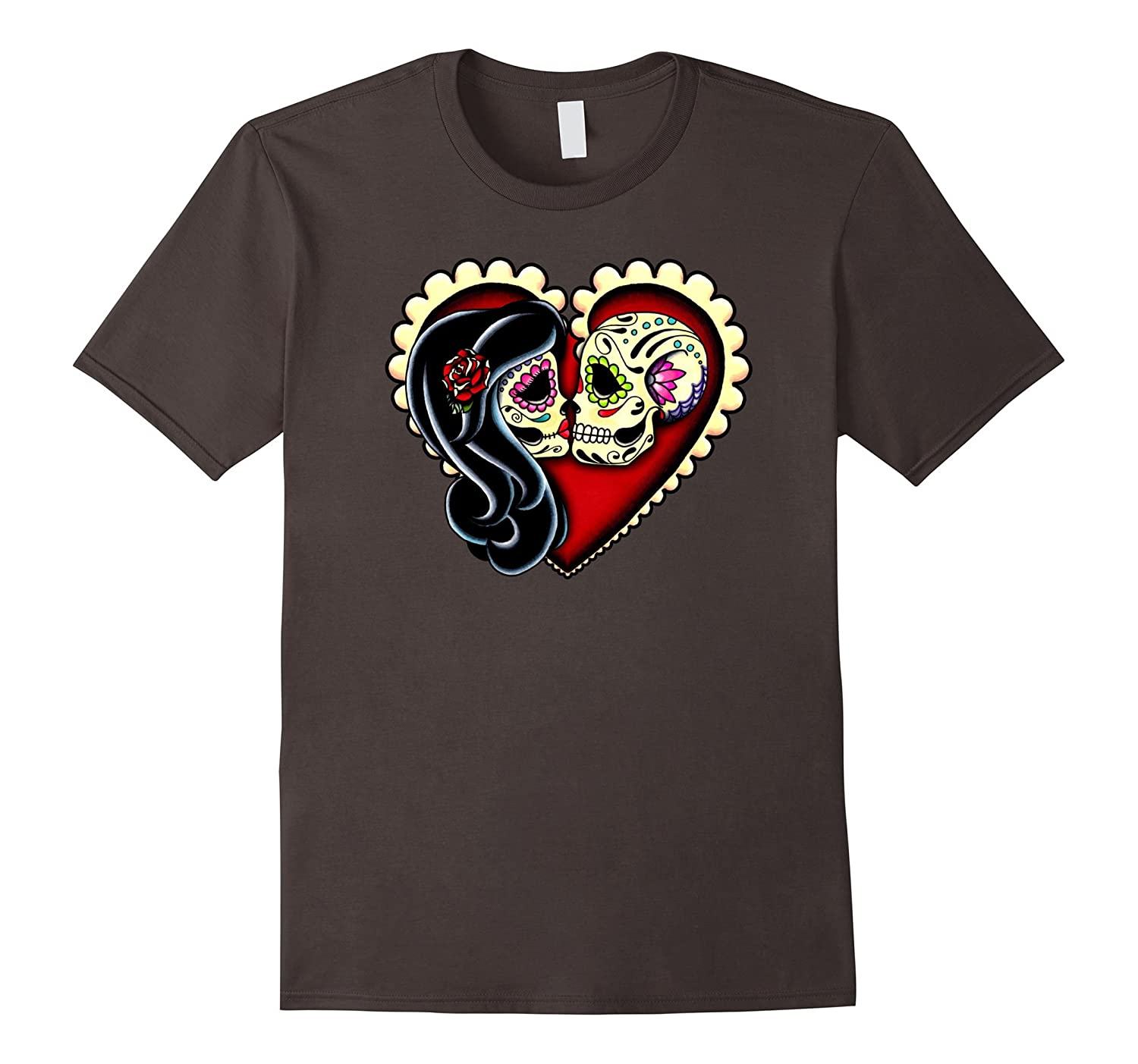 Ashes – Day of the Dead Kissing Couple – Sugar Skull Lovers
