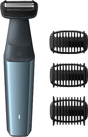 Recorta o afeita todas las áreas del cuerpo con facilidad.,Los bordes redondeados y una lámina hipoa