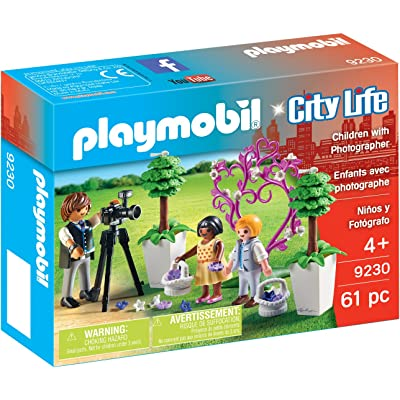 PLAYMOBIL Children with Photographer Building Figure: Toys & Games