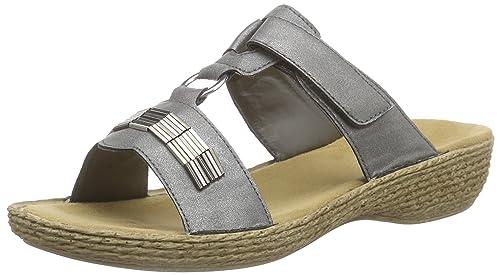 Rieker 62854 - Ciabatte Donna amazon-shoes grigio 100% Auténtico Precio Barato Comprar Nuevos Estilos Baratas Ver Comprar Barato Fiable 6ex05t2