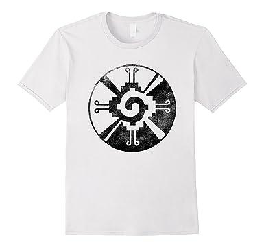 cfc4add6f Mens Hunab Ku Mayan God Symbol Civilization Vintage T Shirt Tee 2XL White