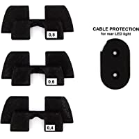 Amortiguador de vibración de Goma 3D, protección LED, Piezas de modificación para Xiaomi Mijia M365 M187 Scooter eléctrico