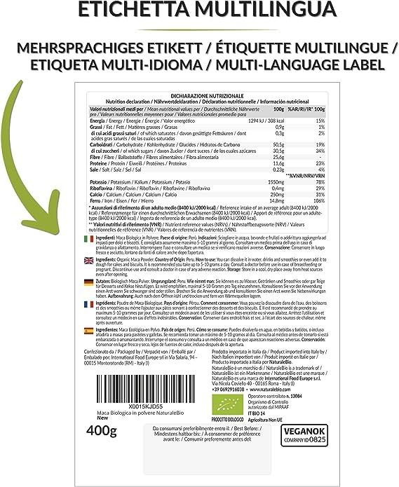 Maca Andina Ecológica en Polvo [ Gelatinizada ] 400g. Organic Maca Powder Gelatinized. 100% Peruana, Bio y Pura, viene de raíz de Maca Organica. ...