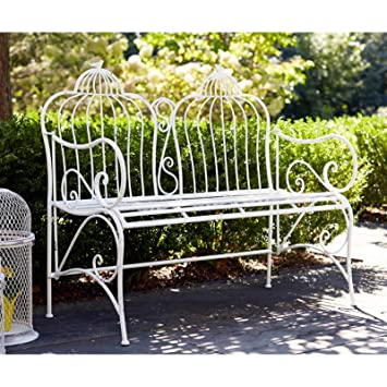 Fine Amazon Com Jur Global Birdcage Duo Metal Garden Bench Theyellowbook Wood Chair Design Ideas Theyellowbookinfo