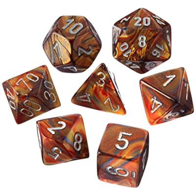 Chessex CHX27493 Dice-Lustrous Gold/Silver Set: Toys & Games