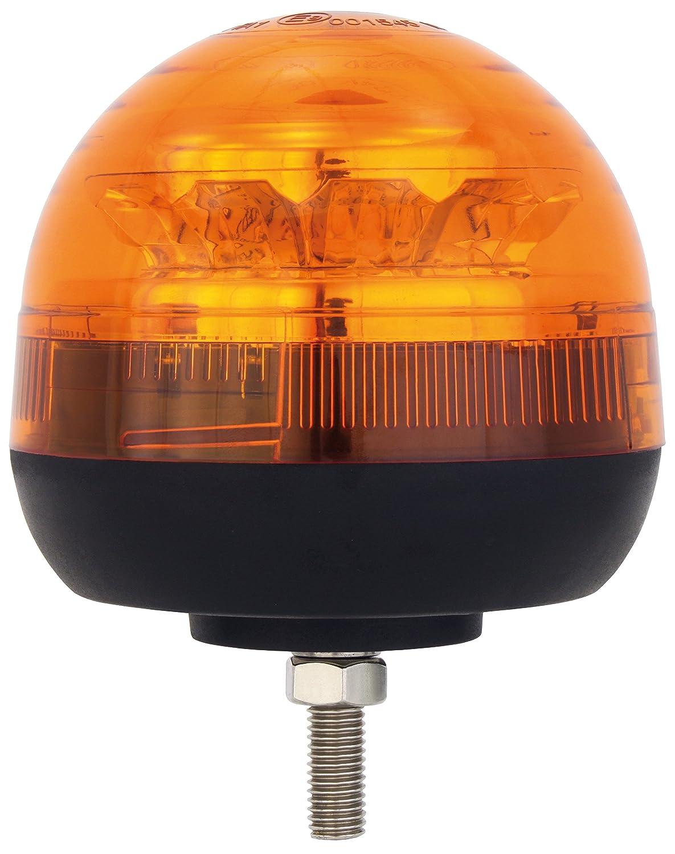 AdLuminis LED Rundumleuchte orange Verschiedene Ausführungen, für 12V und 24V Spannung, Blinkleuchte Warnleuchte für Straßenverkehr KFZ (g - groß mit flexiblem Fuß)