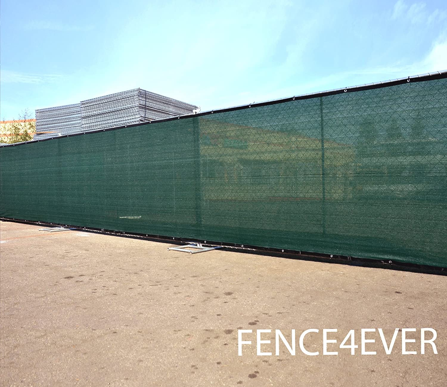 Amazon.com : Fence4ever 8u0027x50u0027 8ft Tall 3rd Gen Olive Green Fence Privacy  Screen Windscreen Shade Cover Mesh Fabric (Aluminum Grommets) Home, Court,  ...