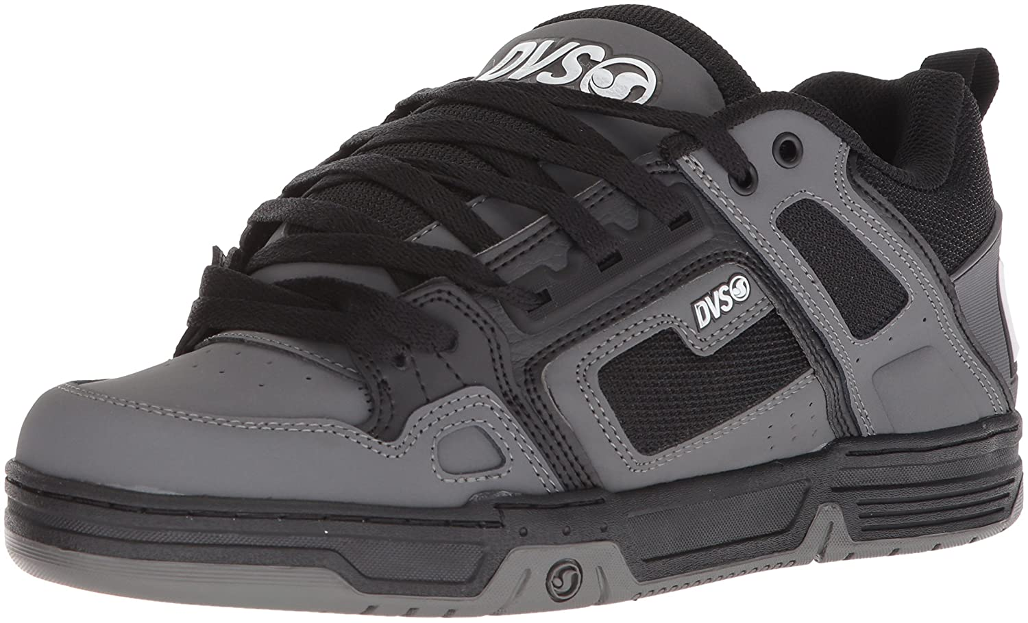 DVS Men's Comanche Skate Shoe 9.5 M US|Black Charcoal Nubuck