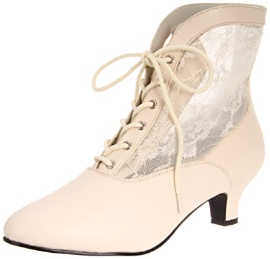 Funtasma Women's Dame-05/IV Ankle Boot,Ivory Polyurethane,6 ...