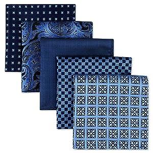 (シッラクスとウイング) Shlax&Wing メンズポケットチーフ5本セットビジネスしまシルク新品