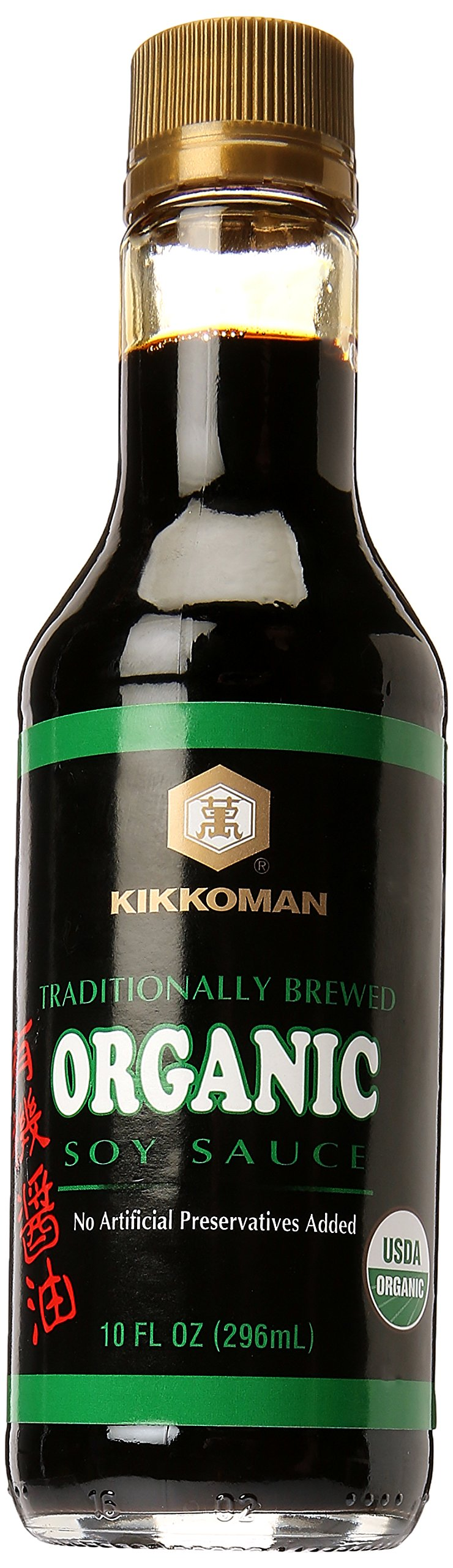 Kikkoman Organic Naturally Brewed Soy Sauce, 10 Ounce