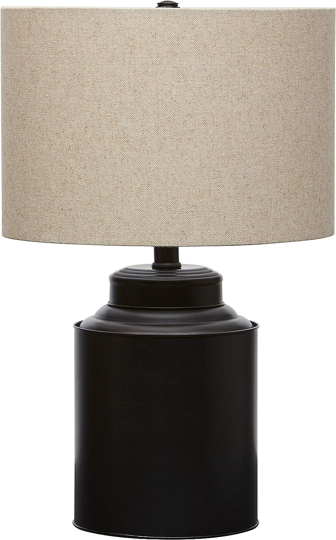 "Stone & Beam Modern Table Lamp, 20""H, Matte Black"