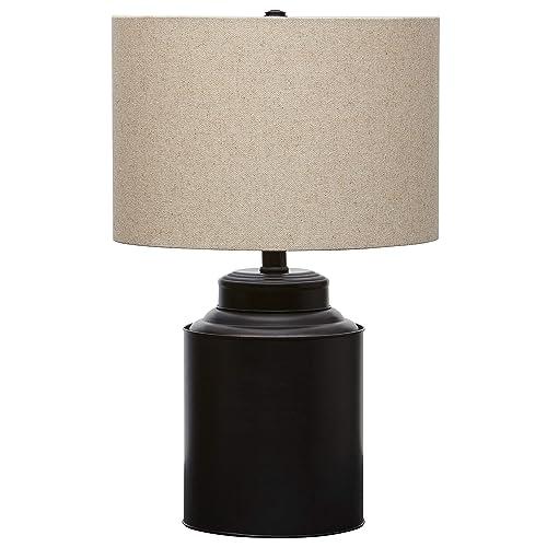 Stone Beam Modern Table Lamp, 20 H, Matte Black