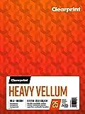Clearprint Heavy Vellum Pad, 48 LB, 180 GSM, 9 x 12 Inches, 25 Sheets Per Pad, 1 Each (26321511011)