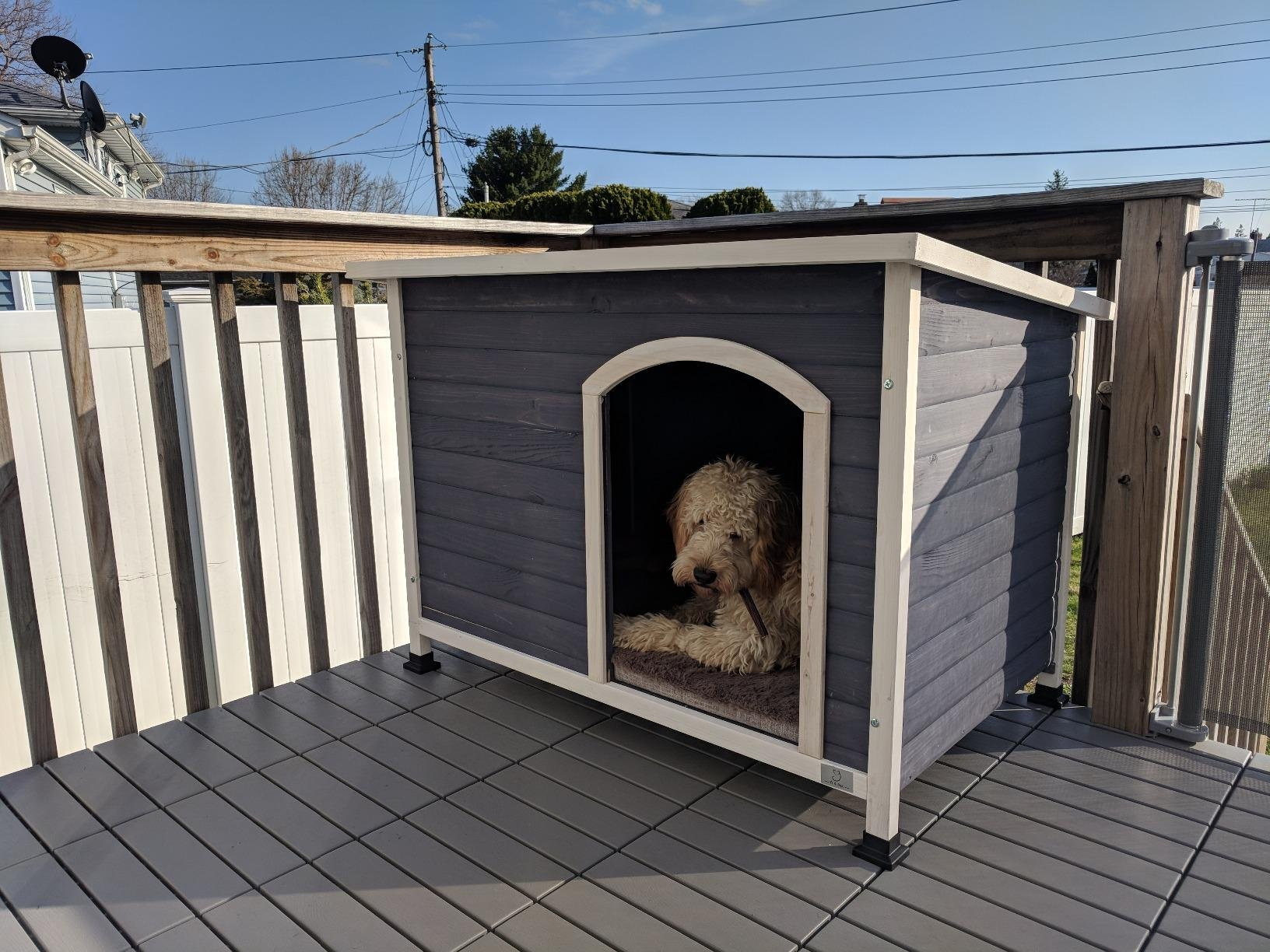 A4Pet Small Outside Dog House for Small Dogs