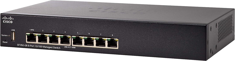 Cisco Sf350 08 10 100 Managed Switch Mit 8 Ports Computer Zubehör