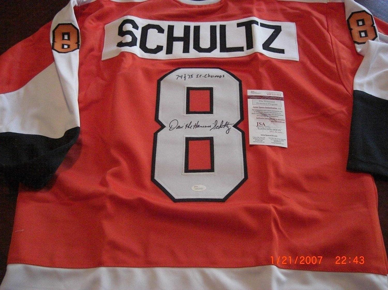 watch 5d68f f154a Signed Dave Schultz Jersey - 75 76 Sc Champs coa - JSA ...