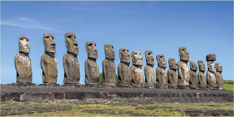 LimeWorks Toalla de Baño, 70x140 cm, Isla de Pascua - Estatuas Moai AHU Tongariki: Amazon.es: Hogar
