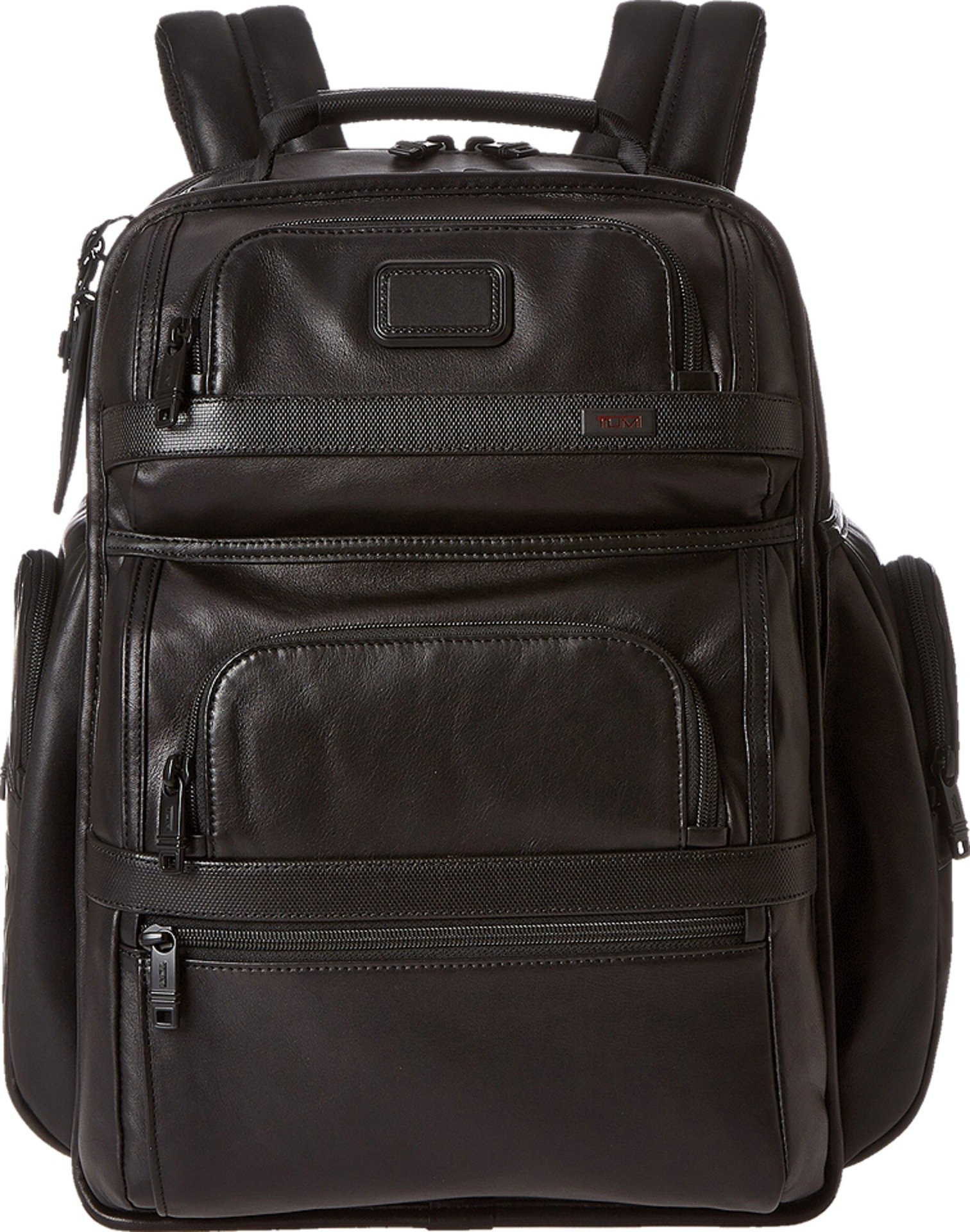 Tumi Alpha 2 T-Pass Business Class Leather Brief Pack, Black, One Size