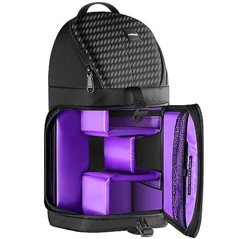 053d087bfc414 Neewer profesional Bolsa de cámara almacenamiento Durable resistente al  agua y prueba del rasgón negro mochila
