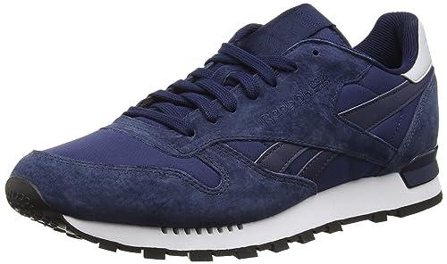 Reebok Tech Clip En Cuir Classique, Zapatillas Para Hombre, Azul (marine Collégiale / Blanc / Noir), 40 Eu