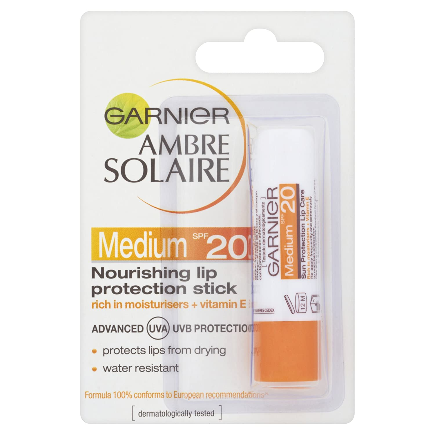 Ambre Solaire Lip Sun Protection Stick SPF20 4.7ml Unichem Ltd 3600540080905