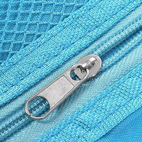 Amazon.com: eDealMax Las Mujeres viajan plegable portátil Limpieza en seco colgantes de maquillaje cosmético del organizador del almacenaje del bolso Azul w ...