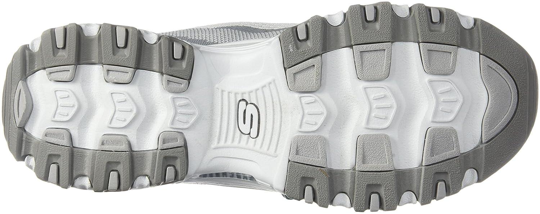 Skechers Sport Women's D'Lites Slip-On M Mule Sneaker B07FFHJDSJ 39-40 M Slip-On EU / 9 B(M) US|Grey/White e14fac