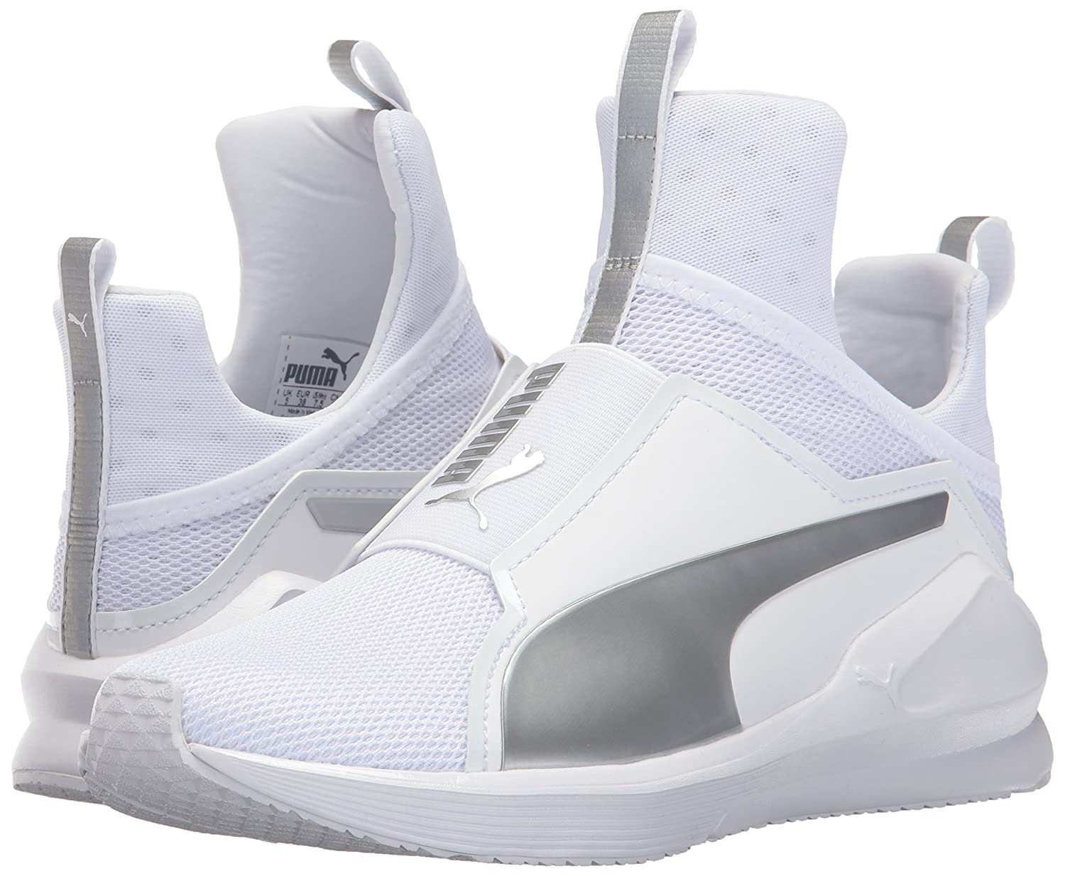 PUMA Women's Fierce Core Cross-Trainer Shoe B01MSZOM5T 10 B(M) US|Puma White-puma Silver