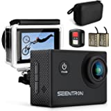 Action Camera, SEENTRON 4K Ultra HD WiFi Waterproof Sports Camera with 16MP SONY CMOS Sensor, 170° Wide Angle SharkEye Lens, Remote Control, 2 Rechargeable Batteries & Portable Package