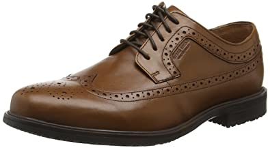 Rockport Essential Details II Wing Tip Brown - Chaussures Derbies Homme