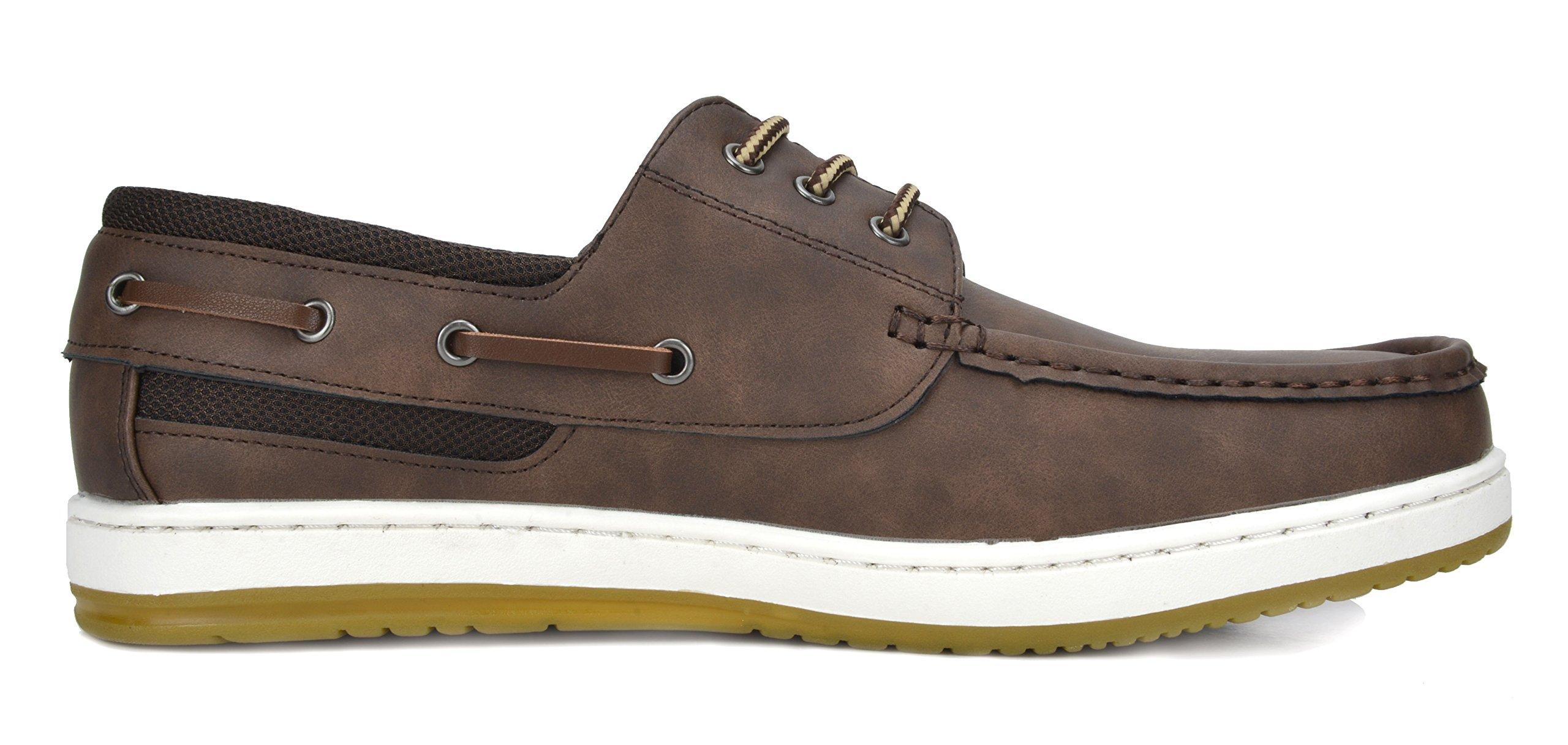 Bruno Marc Men's Pitts_16 DK.BRN/DK.BRN Oxfords Moccasins Boat Shoes Size 11 by Bruno Marc (Image #3)