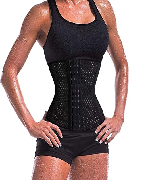 c5170742fe2 Junlan Waist Trainer Slimming Tummy Fat Burner for Long Torso Weight Loss  Body Shaper  Amazon.co.uk  Clothing