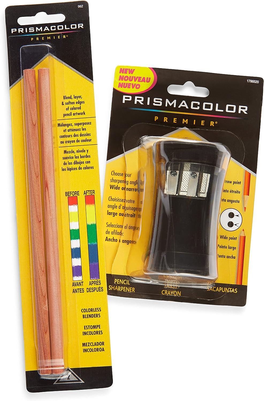 Prismacolor Premier Colorless Blender Pencils, 2 Pack (962) with Premier Pencil Sharpener (1786520)