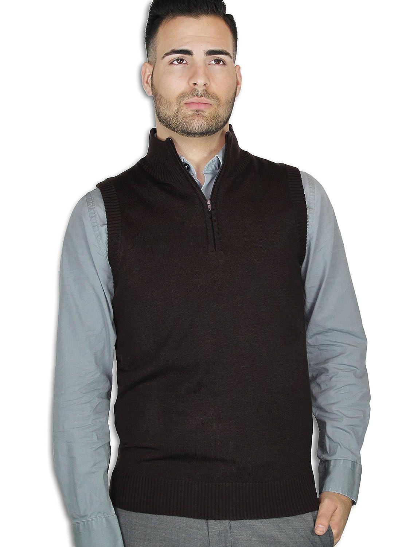 Blue Ocean Quarter-Zipper Sweater Vest SV-277
