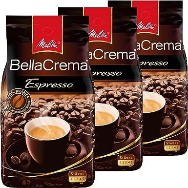 Melitta café bella crema Espresso toda haba, potente de granos de café, 3 Pack, 3 x 1000 G: Amazon.es: Alimentación y bebidas