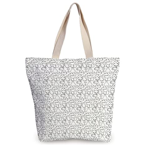 165c161b3706 Amazon.com  Unique Durable Canvas Tote Bag