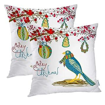 Amazon.com: Batmerry Merry - Fundas de almohada decorativas ...