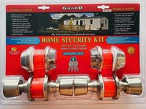 Mobile Home Lockset. Door Lock & Deadbolt. Stainless Steel keyed Alike 2 Pack