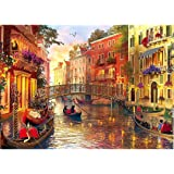 Meryi Venice Water City Jigsaw Puzzles for Adults 1000 Piece, Adult Children Intellective Educational Toy DIY Collectibles Mo