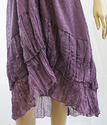 H&M Lilac Purple Glitter Detail Halter Neck Dress - UK SIZE 8