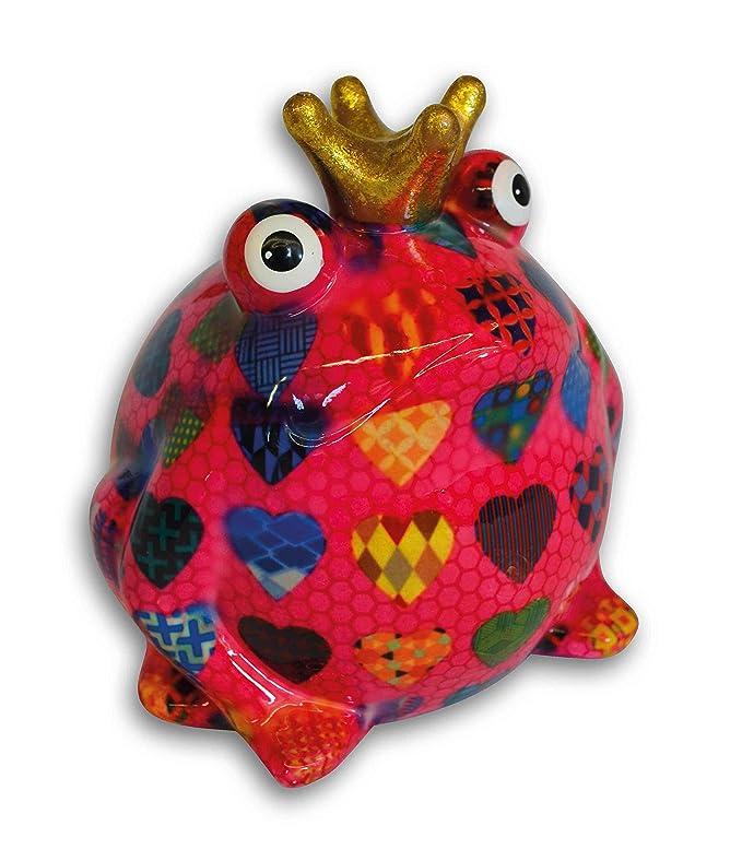 B - Blumen wei/ß S/ü/ße Spardose ~ Froschk/önig ~ Pomme Pidou greenline Frosch Sparb/üchse