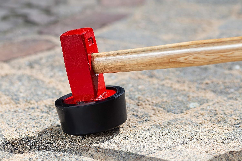 2430 g Kopfgewicht F/ür Gehweg- /& Terrassenplatten // Verbauhammer mit vulkanisiertem Gummikopf // Pflasterhammer // Gummihammer // 2246000 Robuster Stiel aus Eschenholz Meister Plattenverlegehammer