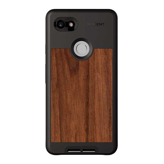 new styles 7203f b332a Moment Pixel 2 XL Case Photo Case in Walnut Wood - Thin, Protective, Wrist  Strap Friendly case for Camera Lovers.