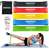 Panathletic Resistance Bands, Set of 5 Bands – 5 Different Resistance Levels, Exercise Guide, eBook, Carry Bag – 5X…