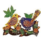 Kuber Industries Handcrafted Parrot-Mynah Wooden Key Hanger (27 cm x 20 cm x 1 cm, CTKTC04148)