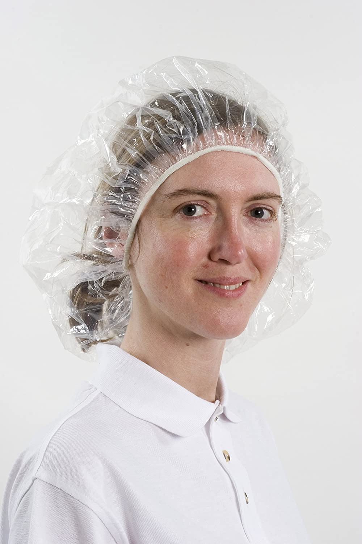 100 Stück Duschhaube (Einweg) - transparent - große Größe 67 cm - auch als Abdeckhaube verwendbar - Einwegduschhaube - groß BICAP