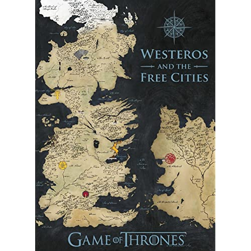 Game of thrones map amazon game of thrones westeros coloured map canvas banner gumiabroncs Images