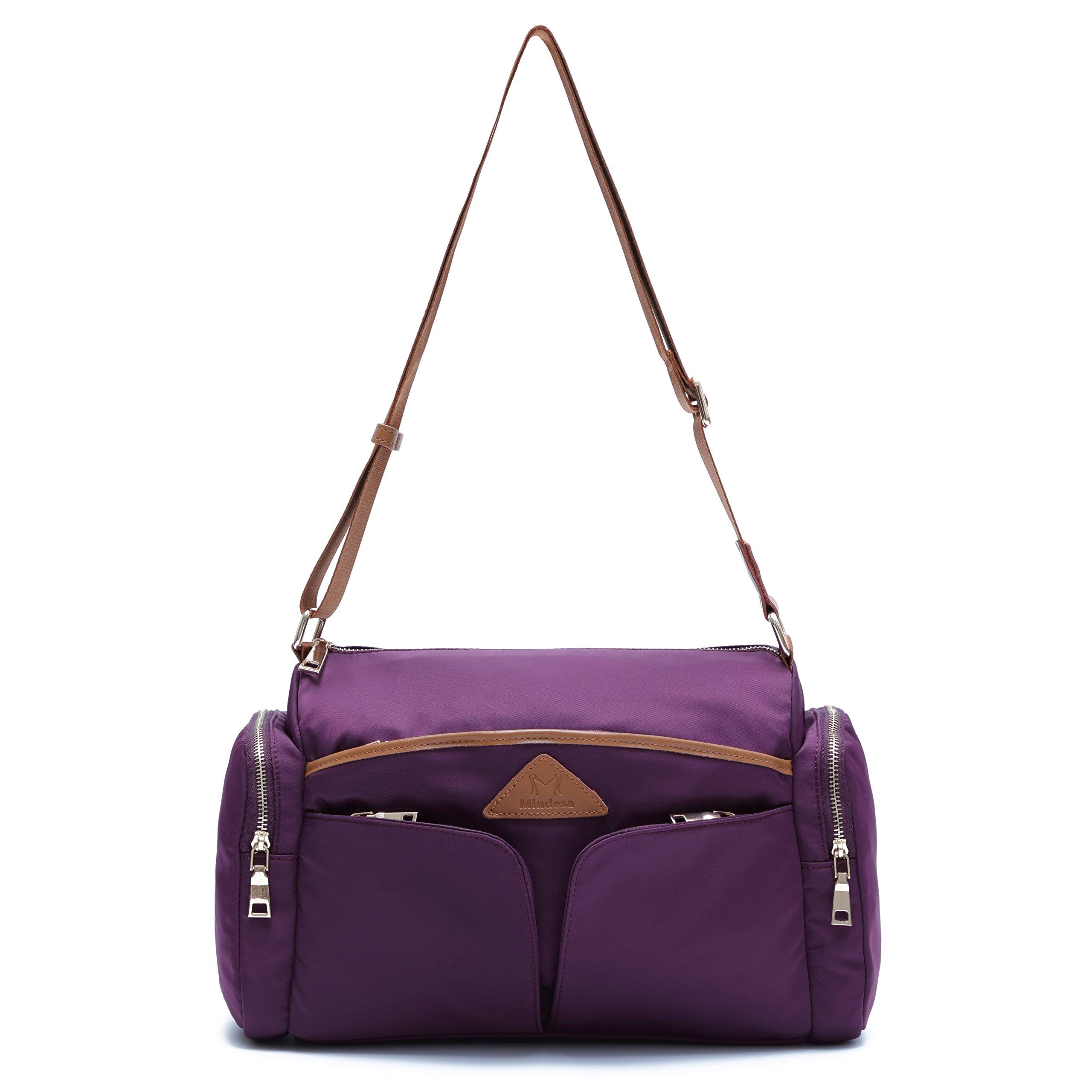 Ali Victory Unisex Waterproof Nylon Sports Gym Travel Weekender Duffel Bag (Purple)