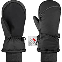 Fazitrip Kids Ski Gloves for Girls Boys, Winter Toddler Snow Mittens, 3M Thinsulate Windproof Waterproof, Ideal for 2-6 Years Old Children